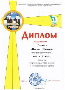 6 Диплом Творческая презентация 1 место
