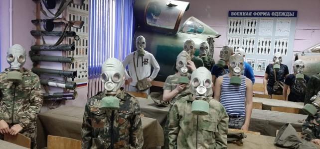 Проведение занятия «Индивидуальные средства защиты органов дыхания», в рамках образовательной программы «Допризывная подготовка»