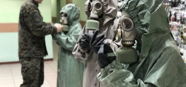 Проведение планового занятия по радиационной, химической и биологической защите.