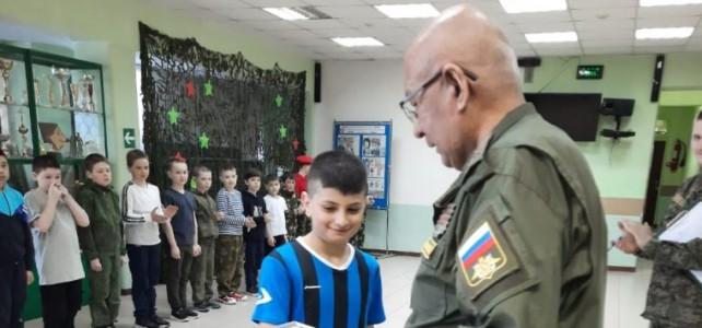 Награждение курсанта Казарян Сергея ведомственным нагрудным знаком «За добрые дела»