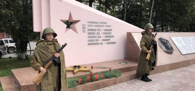Курсанты центра «Подвиг» приняли участие в церемонии памяти, посвященной 76-й годовщине окончания Второй мировой войны 1939-1945 гг.